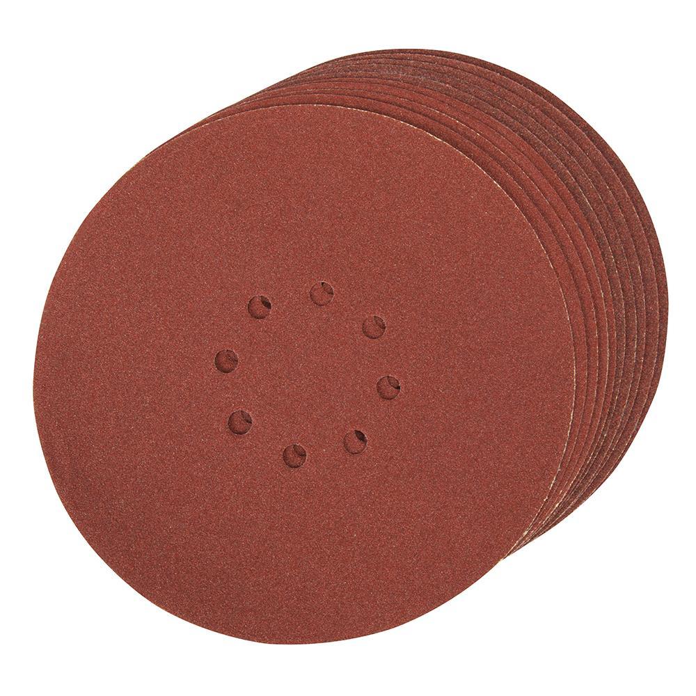 10 disques poncer papier de verre 225 mm grain 80 silverline 272756 outillage professionnel. Black Bedroom Furniture Sets. Home Design Ideas