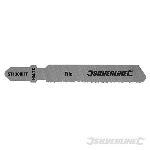 3 lames de scie sauteuse coupes grossi res dans le carrelage et c ramique silverline 228749 - Couper carrelage scie sauteuse ...