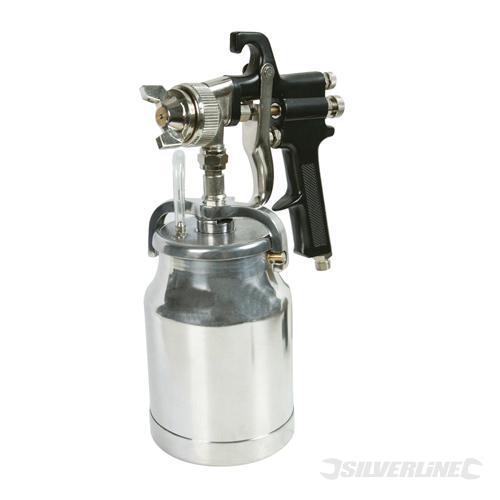 Pistolet peinture haute pression 1000 ml silverline - Pistolet peinture haute pression ...