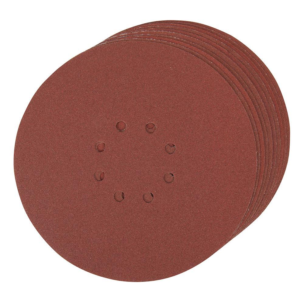 10 disques poncer papier de verre 225 mm grain 120 silverline 273151 outillage professionnel. Black Bedroom Furniture Sets. Home Design Ideas