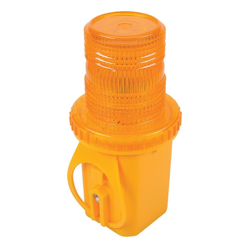indicateur clignotant led ultra brillante lentille orange silverline 342036 outillage