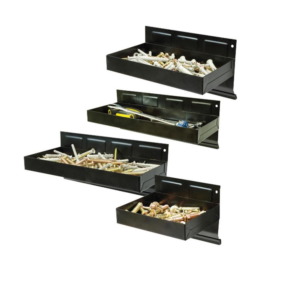 4 plateaux supports magn tiques pour outils et quincaillerie silverline 868873 outillage. Black Bedroom Furniture Sets. Home Design Ideas