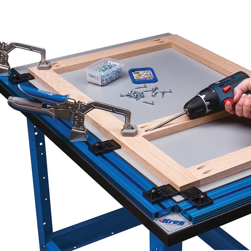 Plan de travail de pr cision kreg avec pinces de maintien - Plan incline avec ceinture de maintien ...
