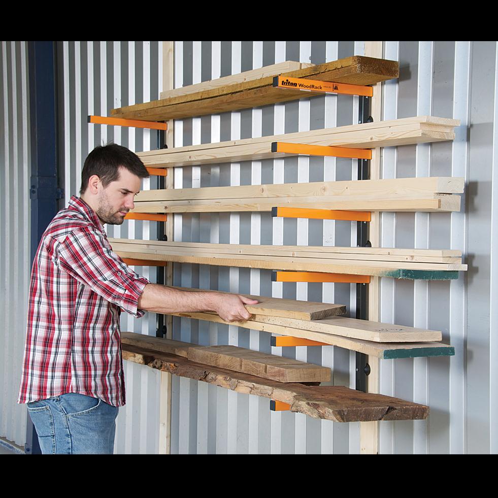 rack bois triton wra001 pour le rangement des objets. Black Bedroom Furniture Sets. Home Design Ideas
