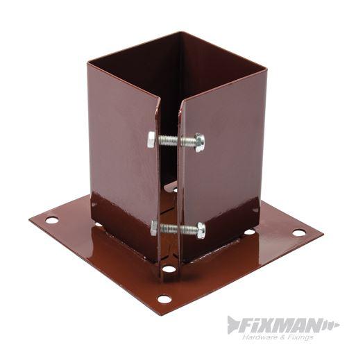 support de poteau fixer 10 cm x 10 cm fixman 721033. Black Bedroom Furniture Sets. Home Design Ideas