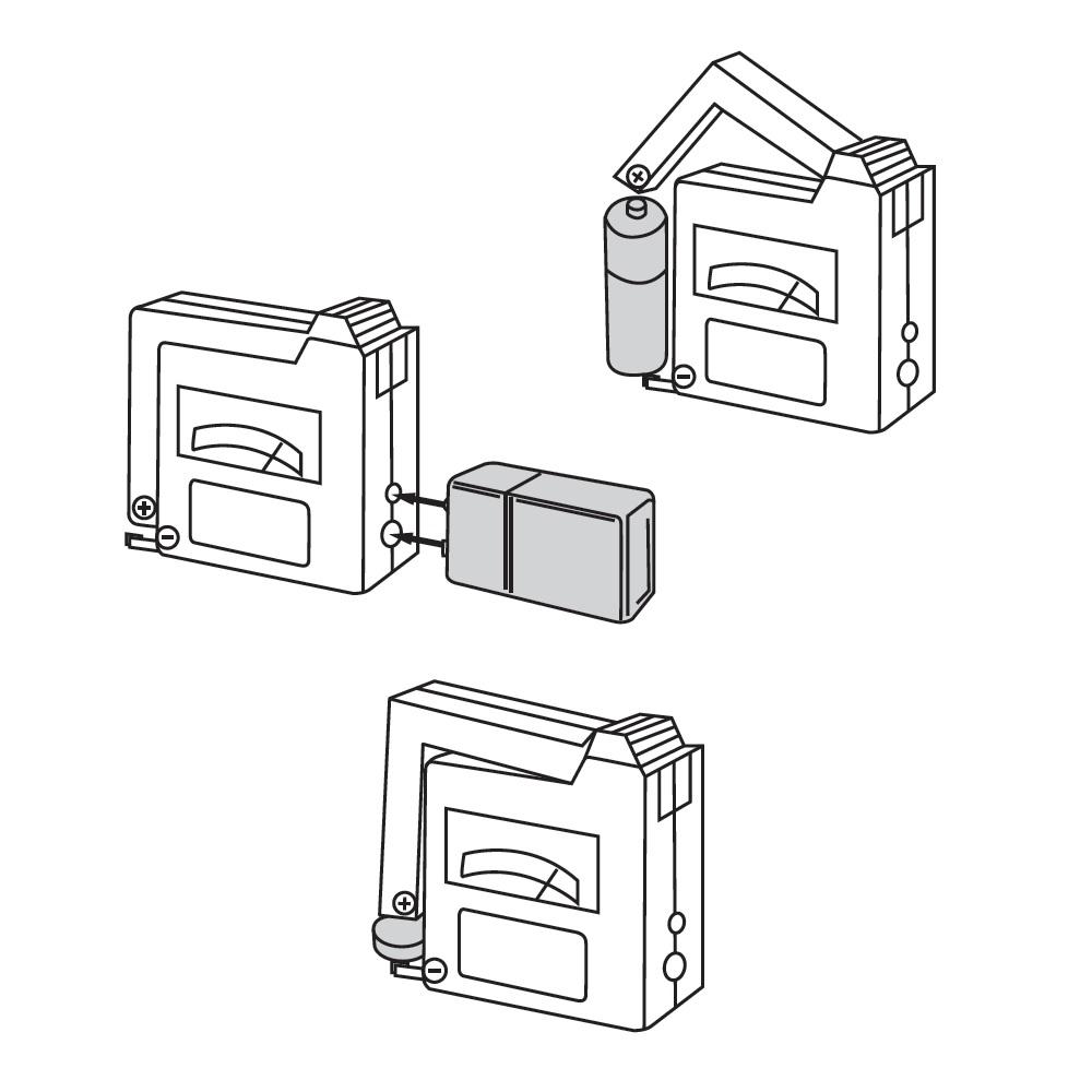 testeur de piles compact 1 5 v 9 v silverline 918147. Black Bedroom Furniture Sets. Home Design Ideas