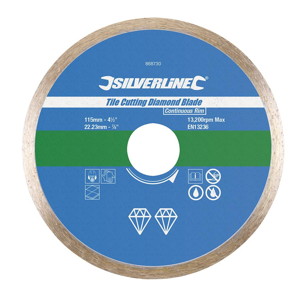 disque diamant 233 224 231 onner le carrelage 115 mm silverline 868730 outillage professionnel