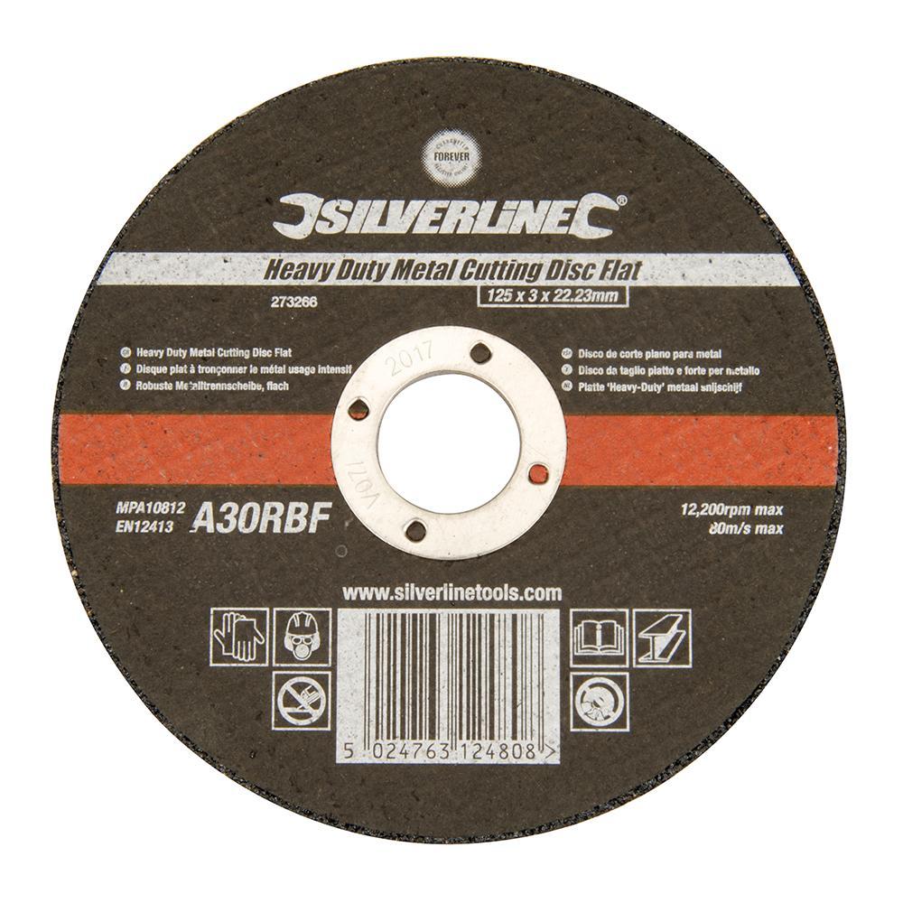 Disque plat tron onner le m tal 125 x 3 mm silverline - Disque a tronconner ...