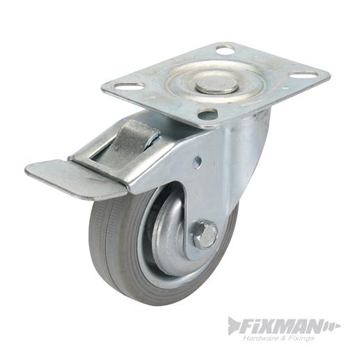 Roulette pivotante caoutchouc avec frein diam tre 50 200 mm ebay - Numero de telephone mondial relay ...