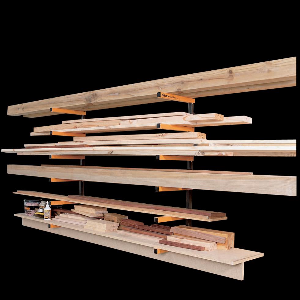 Rangement Pour Le Bois rack à bois triton pour le rangement des objets longs dans l'atelier