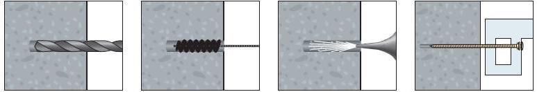 Vis à béton avec fissage direct sans cheville