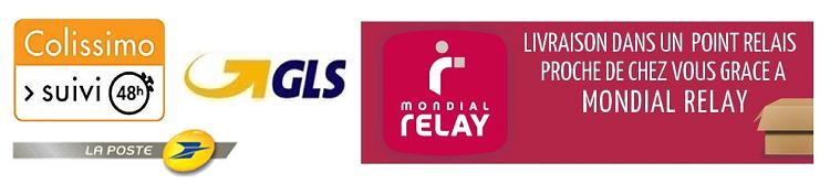 Envois par Colissimo, Mondial Relay et GLS
