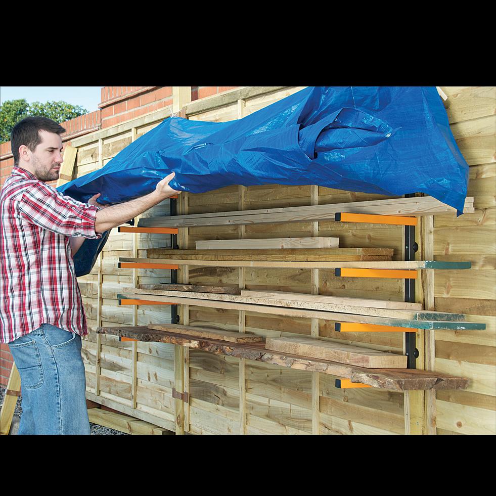 Rack A Bois Triton Pour Le Rangement Des Objets Longs Dans L Atelier