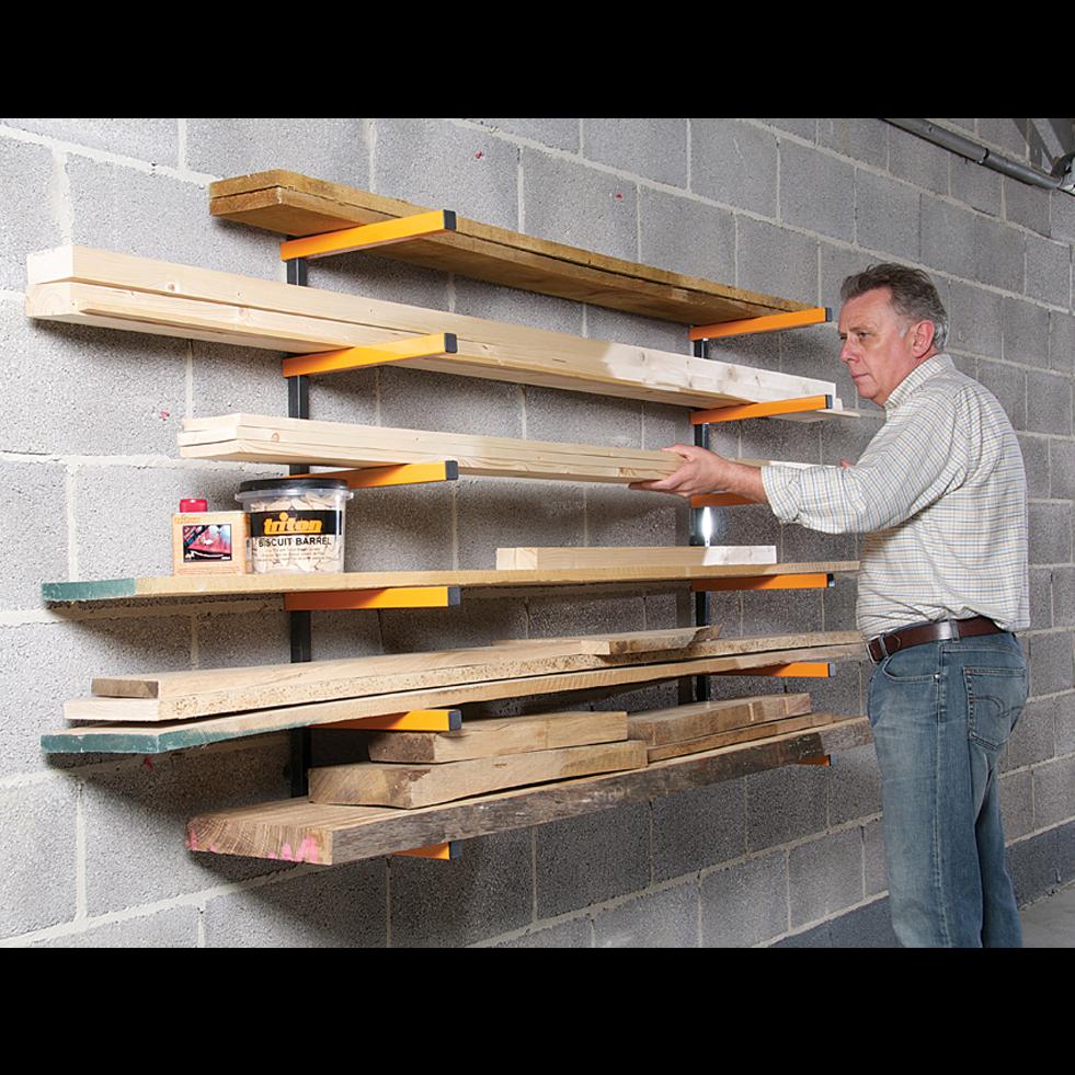 Extrêmement Rack à bois Triton pour le rangement des objets longs dans l  OA94