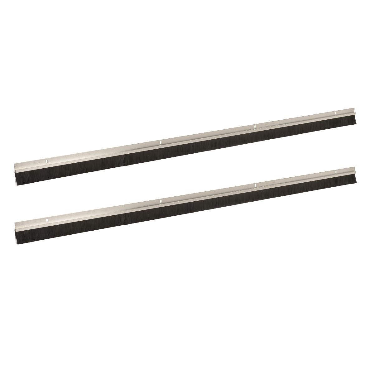 bas de porte de garage aluminium et brosse avec poils de 25 mm fixman 941510 outillage. Black Bedroom Furniture Sets. Home Design Ideas